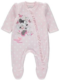 Disney Minnie Mouse Fleece Sleepsuit, read reviews and buy online at George at ASDA. Shop from our latest range in Baby. This polka dot print sleepsuit is ma...