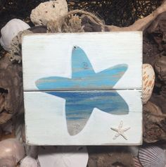 Pallet Wall Art - Pallet Art - Pallet Sign - Ocean Art - Ocean Sign - Sea Horse Art - Beach Art - Starfish Decor - Beach Sign