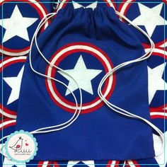 Avengers Birthday, Superhero Birthday Party, Diy Gifts For Kids, Diy For Kids, Captain America Birthday, Wonder Woman Party, String Bag, Easy Sewing Patterns, Sewing Leather