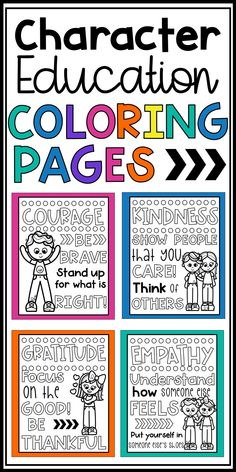 Character Education Coloring Pages - Posters Build students' social skills and positive character tr Study Skills, Coping Skills, Social Skills, Life Skills, Teaching Respect, Teaching Resources, Teaching Ideas, Elementary Classroom Themes, Classroom Decor