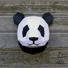 With this template, you can make your own paper panda head!    Size: 6 pages, 24 parts  Difficulty level: below average  The dimentions of the assembled sculpture: H25 W20 D20 when printing on A4 or H35 W30 D30 when printing on A3    The product contains the following files in .pdf format:  1. The basic template  2. Colored template  3. Reminder of the assembly order  4. Reminders of ways to create the sculpture (soon)   In addition to the template, you will need:  1. Paper or cardstock…