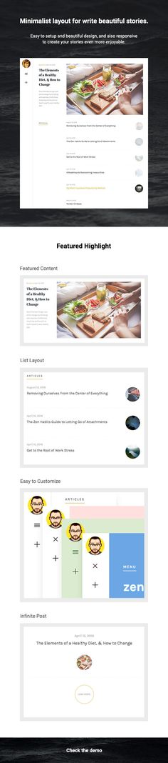 Olivia  Responsive WordPress Blog Theme (Personal)  Olivia  Responsive WordPress Blog Theme  Meet Olivia a Blog WordPress theme. Carefully designed to be beautiful and simplistic.  Featured post to showcase your posts in different way. Featuring a minimal responsive layout Olivia looks just as good on your mobile device as it does your desktop.  Scales To All of Your Devices Olivia is responsive all the way down to mobile. Images videos and text will scale down gracefully to iPad iPhone and…