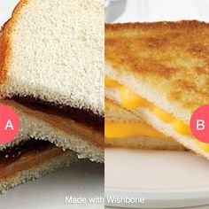 Childhood fave: PBJ or grilled cheese? Click here to vote @ http://getwishboneapp.com/share/3357545
