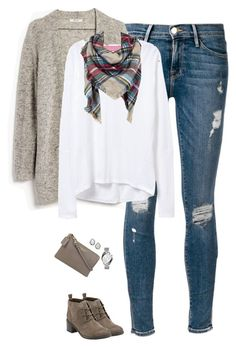 Winter / Fall Fashion Sweater cardigan, blanket scarf and long sleeve tee Casual Winter Outfits, Casual Fall Outfits, Cool Outfits, Fashion Outfits, Womens Fashion, Short Outfits, Mode Style, Style Me, Lookbook Mode