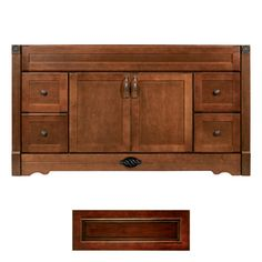 Architectural Bath�Remington Burgundy/Black Transitional Bathroom Vanity (Common: 60-in x 21-in; Actual: 60-in x 21-in)