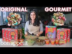 Pastry Chef Attempts To Make Gourmet Lucky Charms – Claire Saffitz, a pastry chef and Senior Food Editor for Bon Appétit magazine, spends many hours in the Bon Appétit test kitchen trying to create a… Cooking Channel Shows, Youtube Cooking Channels, Lucky Charms Marshmallows, Lucky Charms Cereal, In Season Produce, Fun Cooking, Cooking Recipes, Food Trends, Pastry Chef