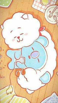 Namjin is real K Wallpaper, Kawaii Wallpaper, Cartoon Wallpaper, Bts Chibi, Fan Art, Fanfic Namjin, Namjoon, Taehyung, Les Bts