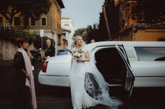 A Karen Willis Holmes Sequin Dress for a Romantic City Wedding In Rome. Photography by Sandra Luoni