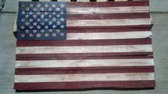 Pallet flag, I have seen these in so many yards and really like them