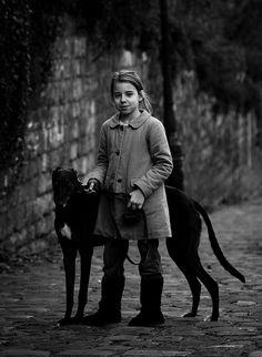 Black greyhound. Anubis, Stranger, Pilate, Sirius, Cerberus, Orpheus, Desdemona