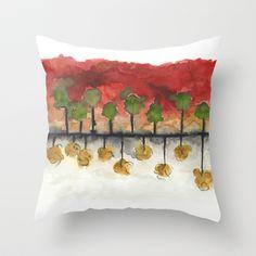 As Above So Below #3 Throw Pillow by Marina Kanavaki - $20.00
