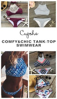 Hot Sale Now, Free Shipping! Ready for the coming summer? We have saved all kinks of #swimwear pieces for you. Printing, contrast color or tank top, tie-design bottom, all are yours. Slip into any one like a wonderful dream at Cupshe.com