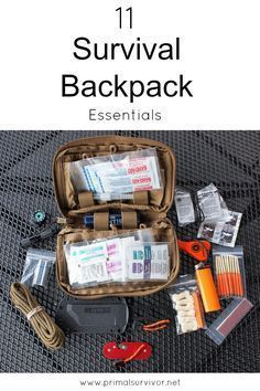 11 Things You Need in Your Survival Backpack #survivalbackpack #familysurvival