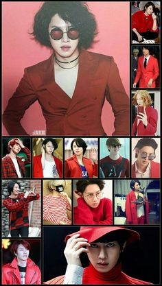 Heechul in red