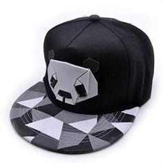 dba916ec489 Goddessvan 2018 Women s Adjustable Panda Sports Baseball Cap Snapback Golf  ball Flat Hat (Black)