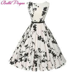3ad43b44e8 Beautiful Audrey Hepburn Floral Retro Swing 50 s Rockabilly Dress