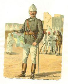 large victorian scrap general gordon