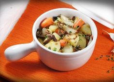 Potatoes with Mushrooms and Vegetables