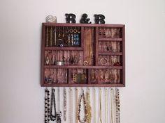 Black Cherry Bling Jewelry Holder от barbwireandbarnwood на Etsy