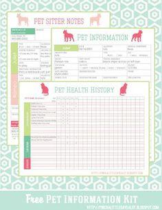 Pinch A Little Save-A-Lot: Free: Pet Information Kit