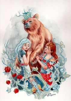 Snow White and Rose Red, by Scarlethawk @ DeviantArt