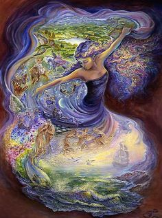 Birthday Holistic Greeting Card by Josephine Wall. An absolutely beautiful greeting card by the talented Josephine Wall. Josephine Wall, 3d Fantasy, Fantasy Kunst, Fantasy World, Mother Earth, Mother Nature, Art Expo, Nature Artwork, Art Nature