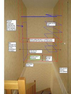 Fixer 1 placard dans le vide d'une cage d'escalier entre 2 murs (...)