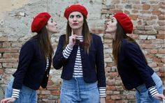 Red Beret Red Berets, Anniversary, Party, Outfits, French, Garden, Suits, Garten, French People