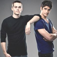 my future husband (Dylan O'Brien) is on the left and Tyler Posey my ware wolf pack member haha. I'm a ware wolf  :D