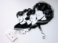 Cassette-tape art: The Beatles re-imagined (via FreeIndie)
