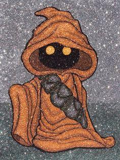 Baby Jawa by GlitterSide Star Wars Art, Star Trek, Starwars, Star Wars Merchandise, Glitter Art, The Phantom Menace, Cute Stars, Ewok, Star Wars Collection