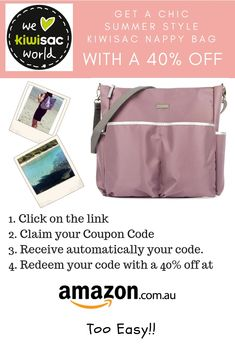 New Arrival in Australia: Kiwisac Stylish diaper bags and backpacks for the summertime. Take advantage of this exclusive promotion online. Maternity Bags, Stroller Bag, Kids Lunch Bags, Toddler Backpack, Baby Diaper Bags, Baby Essentials, Bag Sale, Summertime
