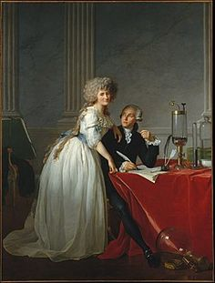 "met-european-paintings: ""Antoine-Laurent Lavoisier and His Wife (Marie-Anne-Pierrette Paulze, by Jacques Louis David, European Paintings Purchase, Mr. French Paintings, European Paintings, Fine Art Prints, Framed Prints, Montpellier, Art Reproductions, Metropolitan Museum, Image Collection, New York"