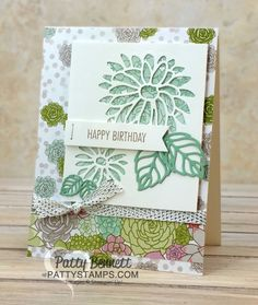 Succulent Garden floral paper Stampin' Up! cards