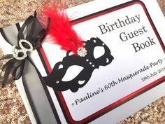 Masquerade Ball Birthday Guest book