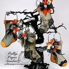 Really Reasonable Ribbon Blog: Halloween Stocking Ornaments