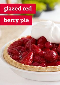 Glazed Red Berry Pie – No need to pop this luscious strawberry and raspberry pie in the oven. Its easy no-bake deliciousness is just the dessert recipe you're looking for on a warm day. Kraft Recipes, Pie Recipes, Dessert Recipes, Pastries Recipes, Just Desserts, Delicious Desserts, Yummy Food, Nutella, Strawberry Recipes