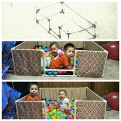 DIY PVC Ball Pit - So easy think kinex/legos.draw a sketch and get the pipes cut and put together  sc 1 st  Pinterest & 24 best Ball Pit images on Pinterest | Ball pits Ball pit diy and ...