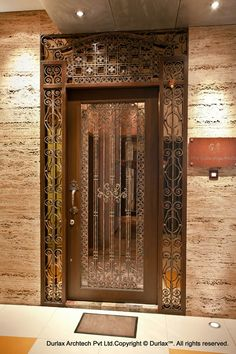 89 Inspiring Front Entrance Decor Models For Your Home Decor - As we like showing our domiciles and decoration abilities. Iron Door Design, Wooden Doors, House Design, Entrance Gates Design, Wooden Door Design, Main Entrance, Front Entrance Decor, House Front Gate, House Front