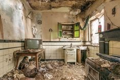 Romain Veillon photographs abandoned buildings around the world | Daily Mail Online