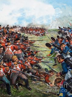 June Napoleon is defeated by British and Prussian troops at the Battle of Waterloo in Belgium. Napoleon abdicated as emperor a few days after this final defeat, and a few weeks later he was captured and sent into exile. Waterloo 1815, Battle Of Waterloo, British Army Uniform, British Soldier, European History, British History, Military Art, Military History, Bataille De Waterloo