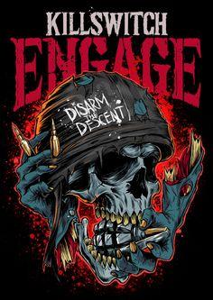 Killswitch Engage T-shirt Design by Ottyag, via Behance