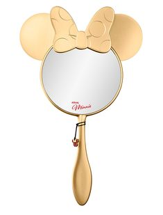 Shop Disney Minnie Beauty: Minnie's Aren't You Gorgeous - Handheld Mirror at Sephora. This mirror features Minnie's ears and iconic bow. Lip Stain Sephora, Sephora Makeup, Makeup Goals, Beauty Makeup, Disney Makeup, Make Up Looks, Disney Merchandise, Mickey Minnie Mouse, Cute Makeup