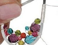 Make Colorful Wrapped Wire Teardrop Earrings with Swarovski Crystals - Jewelry Making Daily - Blogs - Jewelry Making Daily