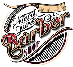 Barbershop/Barbering Cutting Edge Barber Shop located at 10420 S. Decatur Blvd, in Las Vegas. Need a relaxing, old fashioned hot towel shave? Barber Poster, Barber Logo, Mobile Barber, Barber Shop Decor, Barbershop Design, Barbers Cut, Modern Logo Design, Shop Logo, Beard Styles