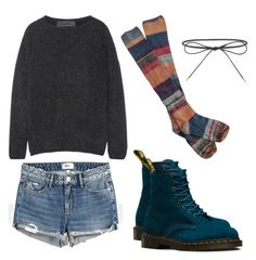 """Untitled #17"" by duchanneswate ❤ liked on Polyvore featuring The Elder Statesman, Paige Denim, Free People, Dr. Martens and Elizabeth and James"