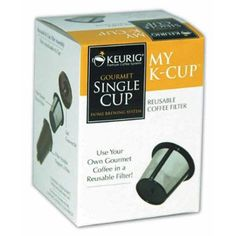 Keurig My K-Cup Reusable Coffee Filter--With the popularity of the Keurig, purchasing the boxes of flavored K-Cup beverages can be come expensive and can result negatively on our landfills.  Instead, invest in this product and place your own favorite coffee in the filter et viola!  A piping cup of coffee sans the small plastic cup going in the trash.