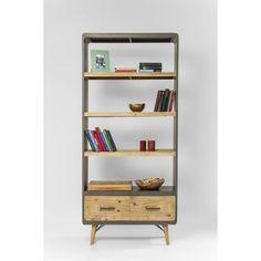 Βιβλιοθήκη X Factory  Η σειρά X-factor θα σας εντυπωσιάσει.  Βιβλιοθήκη σε vintage γραμμή σε ένα ουδέτερο γκρι χρώμα.  €775 Book Worms, Bookcase, Shelves, Vintage, Home Decor, Shelving, Decoration Home, Room Decor, Book Shelves