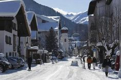 St Anton am Arlberg, Austria - this is the view as one enters the village from the East, i.e. Coming from Landeck and Innsbruck, or Muenchen.