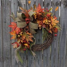 30 Fall Wreaths That'll Make Your Front Door the Prettiest One on the Block 30 Best DIY Fall Wreaths - Prettiest Autumn Door Wreaths for Sale Easy Fall Wreaths, Wreaths For Sale, Diy Fall Wreath, Thanksgiving Wreaths, Summer Wreath, Holiday Wreaths, Spring Wreaths, Yarn Wreaths, Winter Wreaths